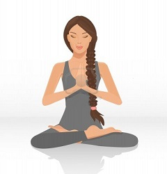 le-yoga-lotus-position-isolee